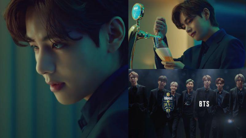 【有片】BTS防彈少年團最新代言啤酒廣告片公開:快來欣賞V的雕刻級美顏♥