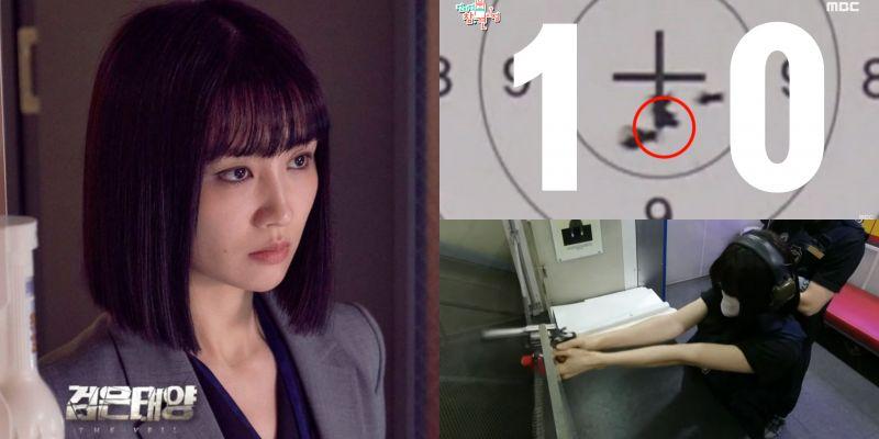 《黑色太陽》特務「徐秀妍」即將登場!朴河宣實際射擊能力不輸男子~導演喊卡超搶戲