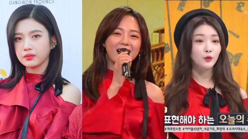 Red Velvet Joy VS gugudan金世正VS金请夏:小露香肩,性感迷人