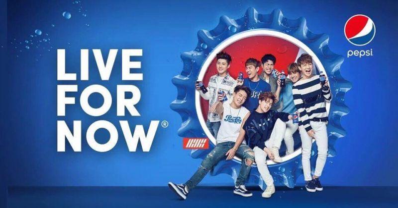 iKON成為韓國百事可樂代言人