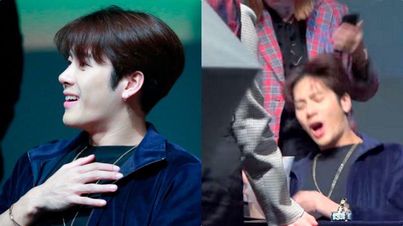 GOT7签名会上粉丝玩恶搞 Jackson被吓尖声大叫!其后反应超可爱呢~