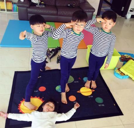 三胞胎大韓民國萬歲與秋小愛再相會 友好姐弟認證