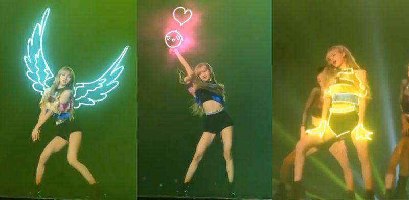 炫酷又美! 外國網友為BLACKPINK Lisa經典SOLO直拍製作霓虹燈特效