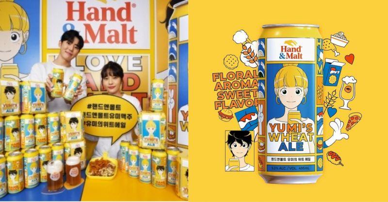 韩国人气网漫《柔美的细胞小将》与手工啤酒品牌推出联名版本:可爱又吸睛!