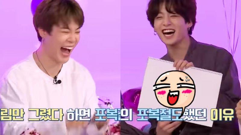 BTS 防彈少年團超有默契!成員接力「一秒畫出 '房時爀' 製作人」的爆笑場面XD