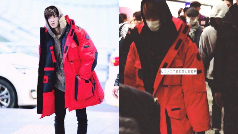 當EXO伯賢穿上185cm燦烈的長外套後...