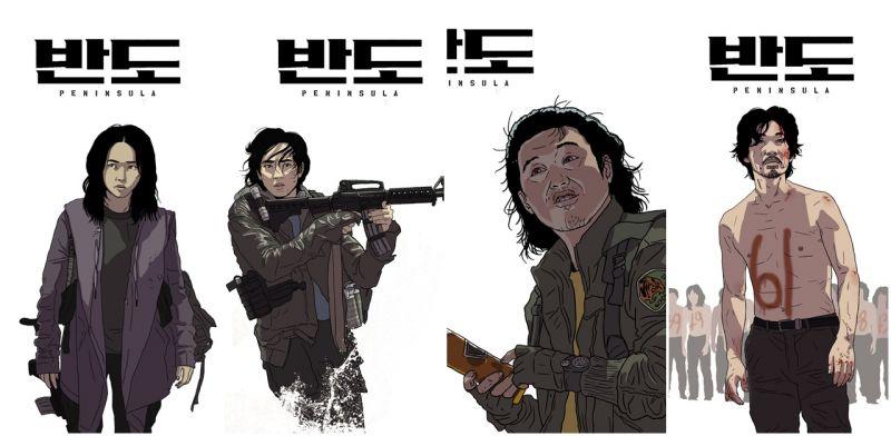 导演太有才! 延尚昊公开《尸速列车2:感染半岛》演员手绘版本