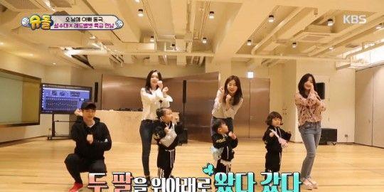 《超人回來了》大發姐弟做客SM 可愛舞姿讓珉豪&Red Velvet都融化啦