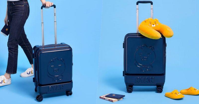 Kakao Friends推出新款Ryan登機箱! 機場時尚的完成就靠它了~❤