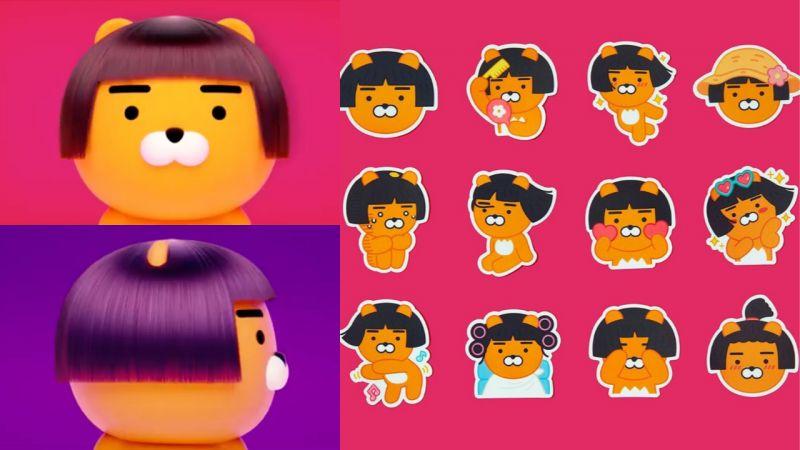 Ryan换了妹妹头短发啦!推出了一系列可爱的贴纸,这个发型莫名的有喜感呢!