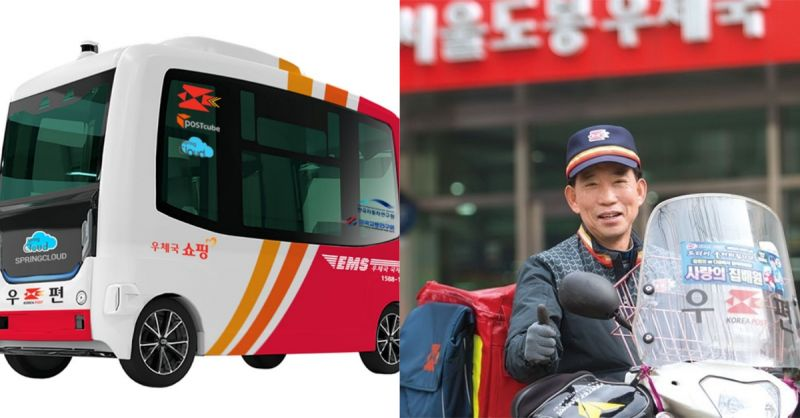 疫情带来的新变革:韩国邮局开发「行走的邮局」、「机器人邮差」 !