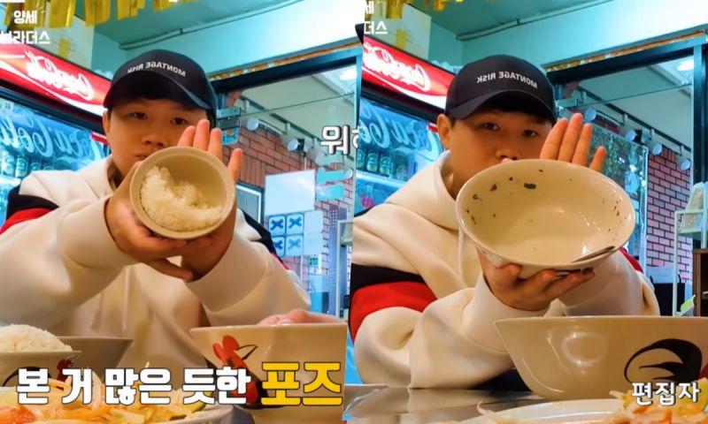 梁世炯的「美食博主式吃播」! 從未見過的食物展示pose,弟弟吐槽:「vlog不是這樣拍啦! 」