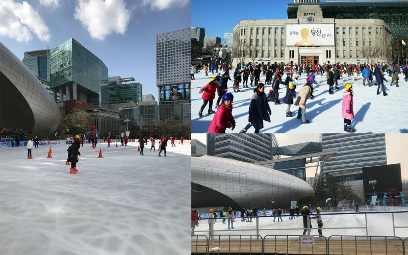 韓國冬季限定遊玩點:首爾廣場&上岩MBC滑冰場