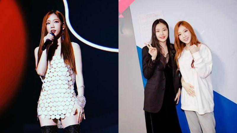 SoshiPink!少女时代太妍和Apink孙娜恩两大女神的合照有点意外哦?