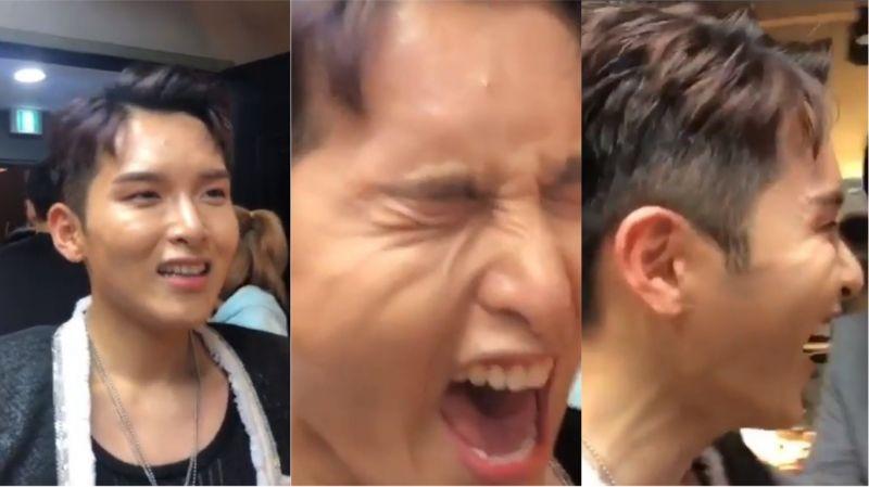 SJ始源訪問此次「C位」厲旭 參與專輯的感想是…?請調整好音量再打開影片吧!XD