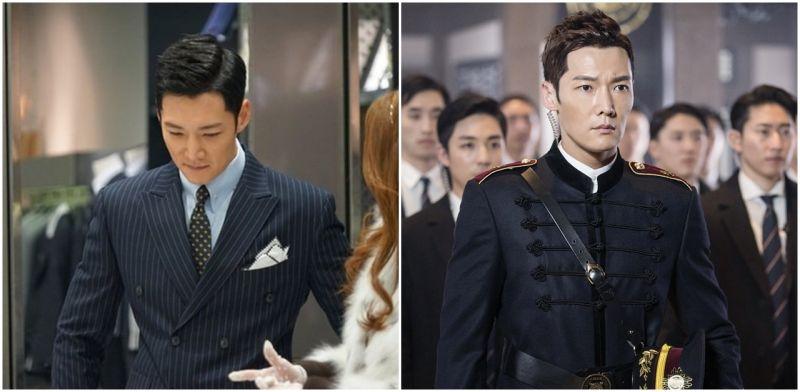 《皇后的品格》崔振赫的熟男时尚   从警卫制服到西装风衣