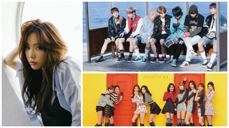 今日《人氣歌謠》鹿死誰手?BTS vs 太妍 vs TWICE