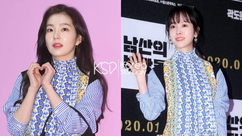 【撞衫不可怕系列】Irene VS 韩志旼:爱豆与演员穿同样衣服,气质感觉全不同!