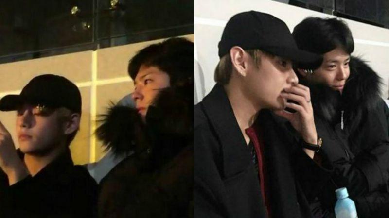 朴寶劍和好友金泰亨出現在Bigbang演唱會現場 引發粉絲們騷動