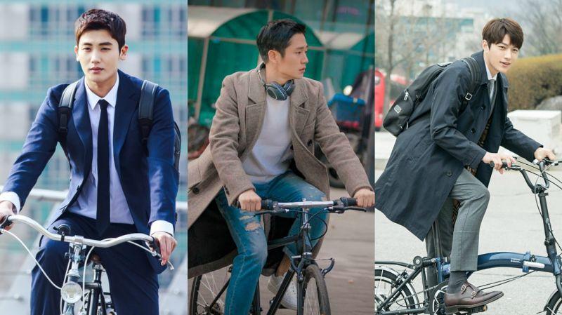 最近的韩剧都加入这个元素!想和朴炯植、丁海寅、金明洙一起骑自行车啦~