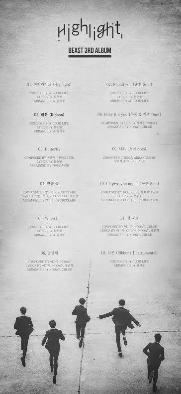 正規3輯歌單公開 BEAST中4位成員參與創作