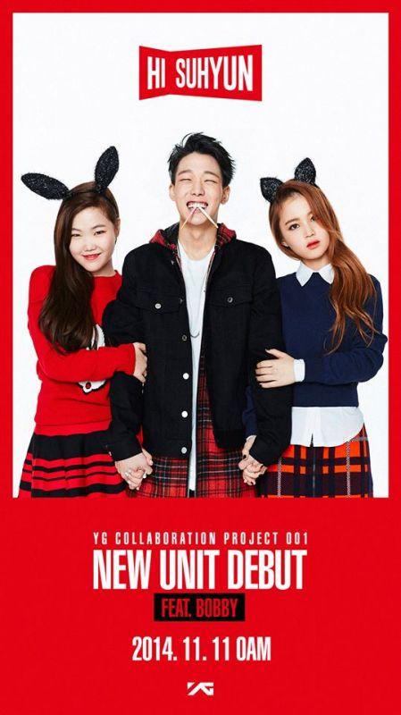 YG NEW UNIT:HI SUHYUN 公開第三位成員:SUHYUN !