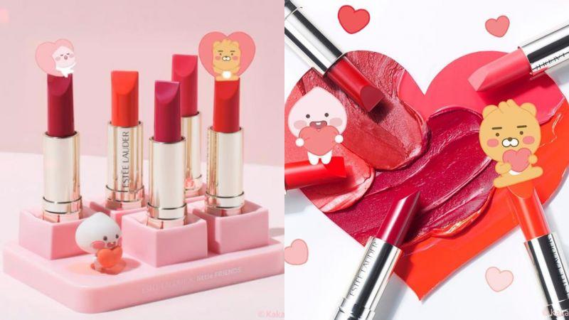 Kakao Friends联名Estee Lauder推出唇膏系列,附送可以装饰收纳的唇膏底座!