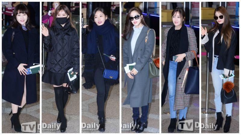 【機場時尚】T-ara赴日參加粉絲見面會