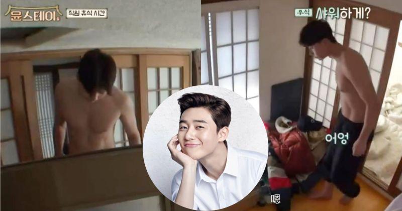朴敘俊即使沒拍韓劇,在《尹STAY》綜藝中也是依舊是肌肉擔當!