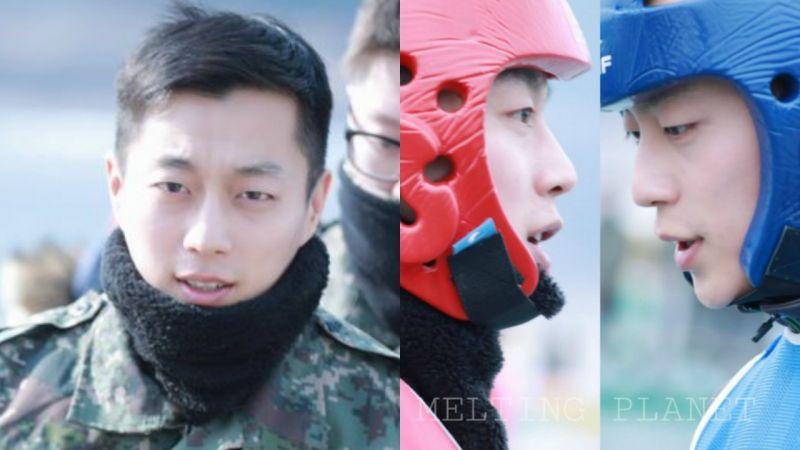 「军中应援」HIGHLIGHT尹斗俊踢冰上足球,大方请战友们吃零食!