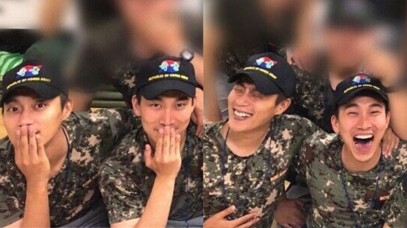經過4週基礎軍事訓練…看起來已經完美適應軍隊生活的Highlight尹斗俊 & BTOB徐恩光!