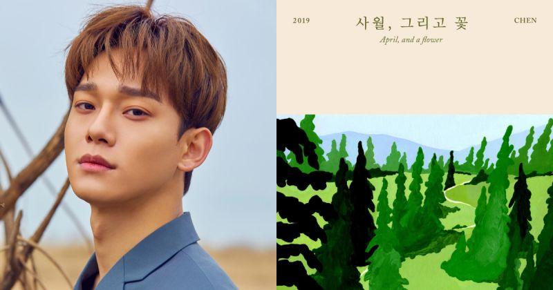 在四月來臨前預習 Chen 的感性⋯首張個專〈April, and a flower〉最新預告公開!