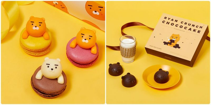 世最可!KAKAO情人节限定《RYAN马卡龙》、《RYAN巧克力蛋糕》