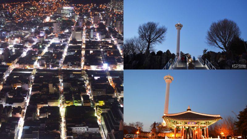极亲民的地标——釜山塔:饱览釜山夜景,就这样简单!
