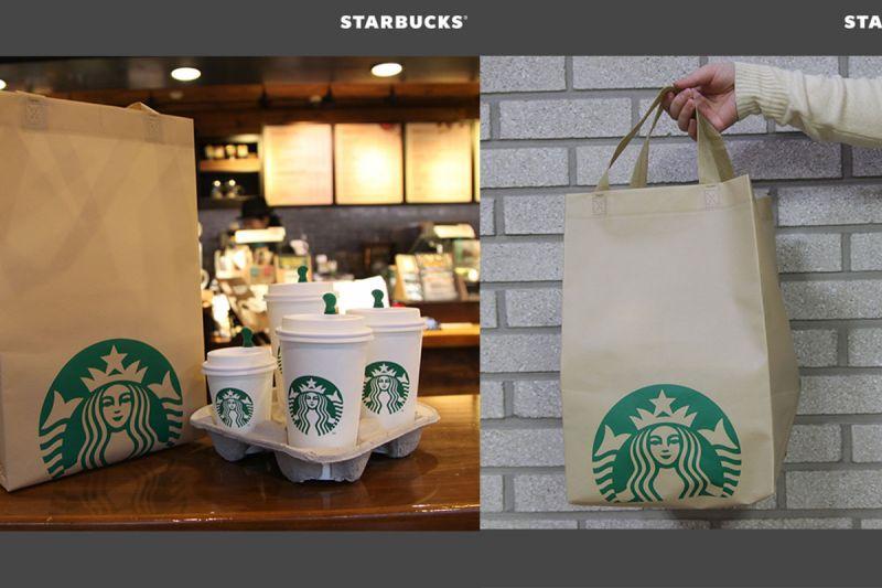 為了我們的環境~韓國Starbucks又出新招:多用途提袋!