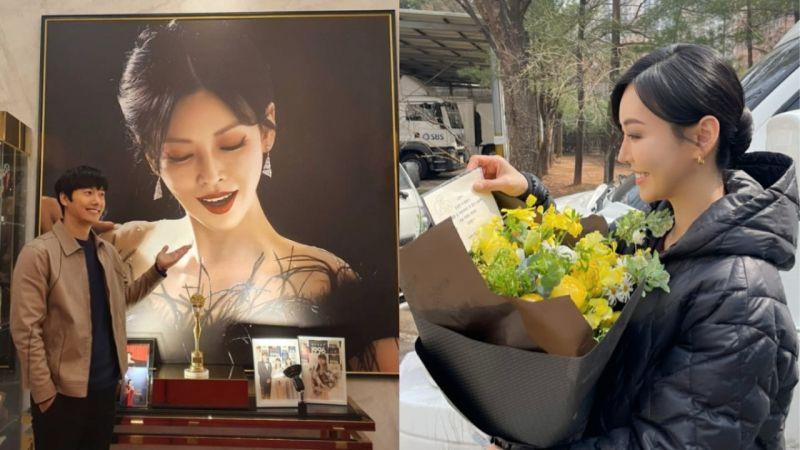 太閃!李尚禹白色情人節給在拍攝《The Penthouse 2》的金素妍送上驚喜:「今天也要加油~我愛你♥」