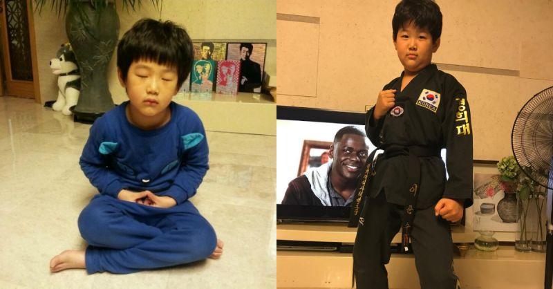 李钟赫公开儿子俊秀身穿黑色道服照片!并写道即使变胖了但俊秀表示自己还是有......