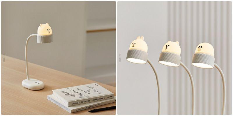 书桌新朋友~ LINE新推出熊大、兔兔、莎莉桌上型小立灯