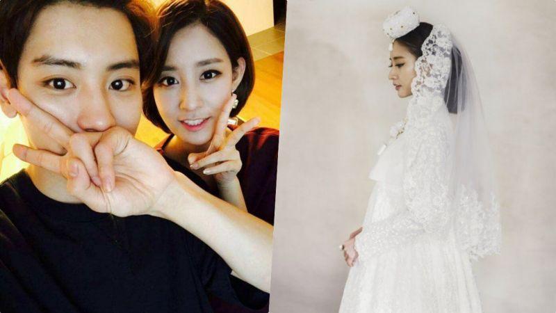 EXO灿烈亲姐姐要结婚了!唯美的婚纱照公开