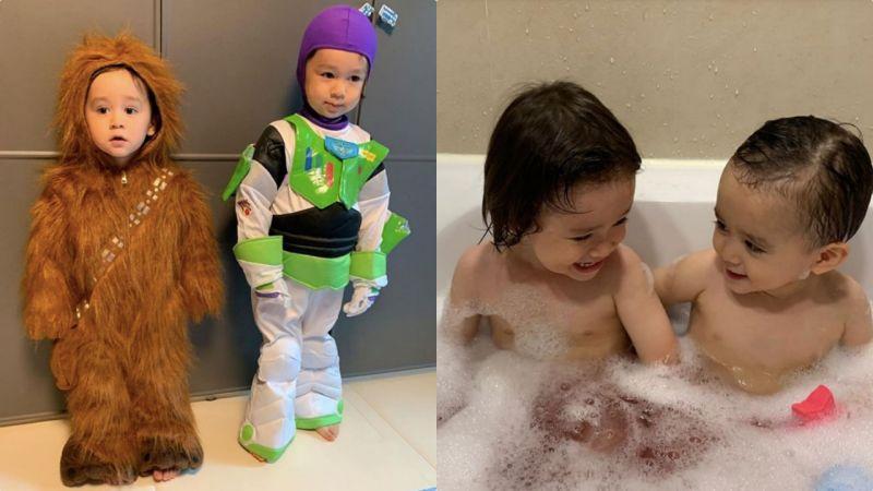 爸爸,你确定我很帅吗?《超人回来了》「威本联盟」万圣节LOOK,兄弟俩集可爱搞笑於一体