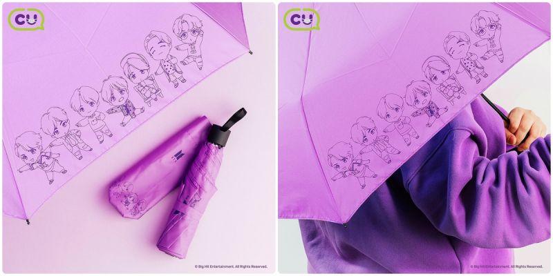 BTS的新周邊《Q版人物三段式雨傘》有點可愛呀