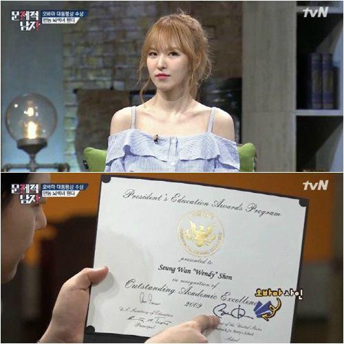 沒想到妳也是學霸!Red Velvet成員Wendy從小留學成績全A