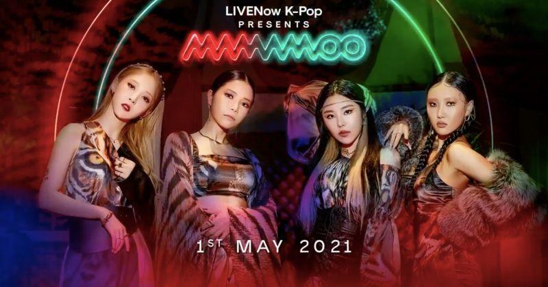 韩国歌手第一次 MAMAMOO 将登英串流平台 LIVENow 开唱!