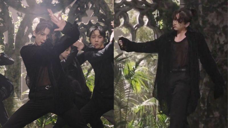BTS防弹少年团《Black Swan》新舞台:柾国透视装+扎头发造型引发讨论,又帅又性感!