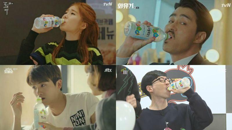 现在韩国一众大势演员都最爱喝的饮料!新的代言人颜值也很高啊~