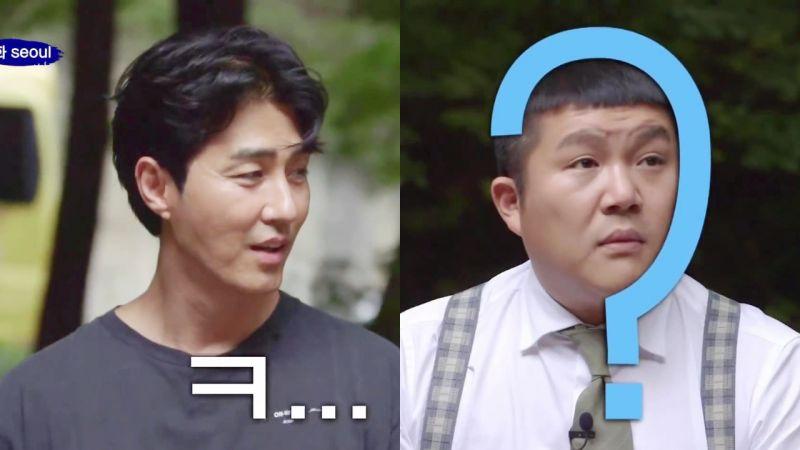 50歲的車勝元稱讚48歲的劉在錫:「腰圍28吧,是個狠人!」然後看向曹世鎬...