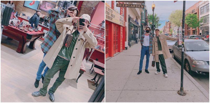 BTS防彈少年團   忙碌行程中也沒忘了旅遊的J-Hope跟智旻
