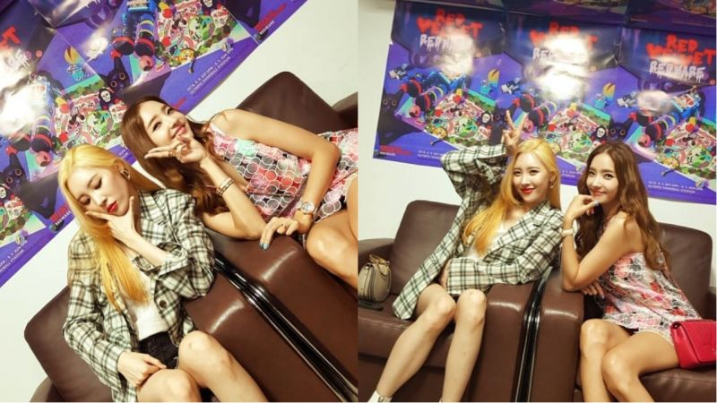 女神和女神的合照!「秘密姐姐」韓彩英、宣美一起去看妹妹們Red Velvet的演唱會啦!
