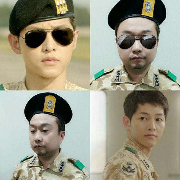 搞笑藝人朴輝順 樂扮演劉大尉 可惜最像的只有墨鏡