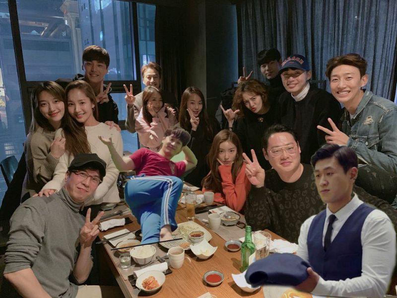 tvN《金秘书为何那样》剧组聚餐!朴俊和导演、朴叙俊和朴敏英都来了 没来的成员就用「P图」处理